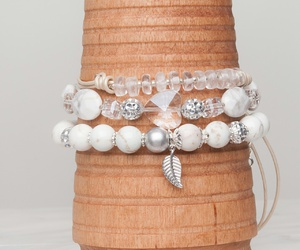 bracelets, crystal, and white image