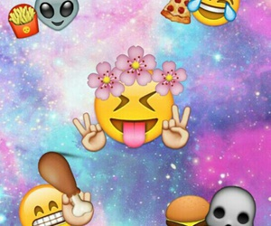 emoji, food, and galaxy image