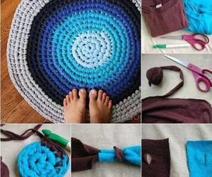diy, crochet, and rug image