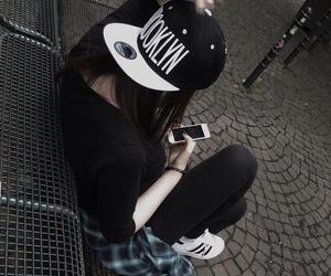 black, style, and adidas image