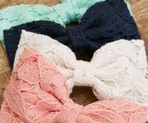 bow, lace, and pink image