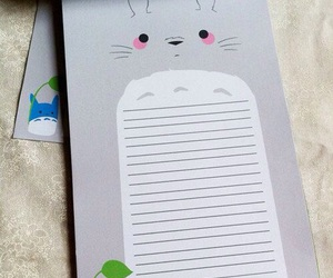 totoro, kawaii, and notepad image
