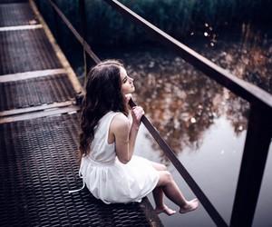 beautiful, bridge, and dress image