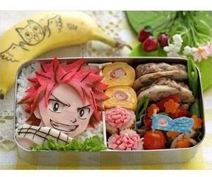 anime, natsu dragneel, and food image