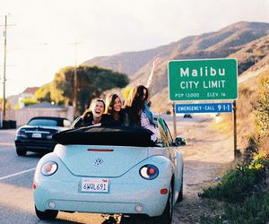 travel, malibu, and friends image