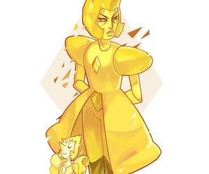 steven universe, yellow diamond, and yellow pearl image