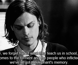 criminal minds, memories, and quotes image
