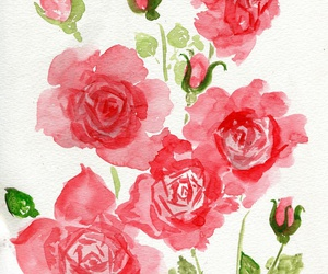flowers, roses, and art image