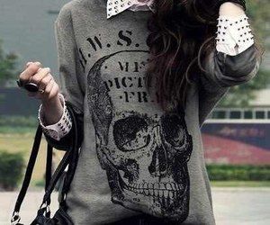 fashion, style, and skull image