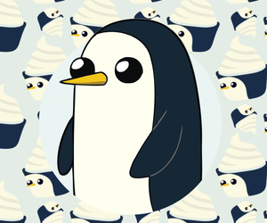 wallpaper, adventure time, and gunter image