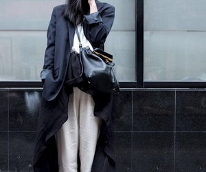 chic, model, and street fashion image