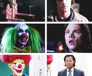 clown, jared padalecki, and sam winchester image