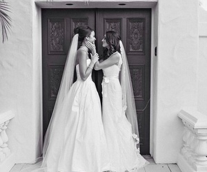 lesbian, wedding, and bride image