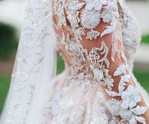 wedding, beautiful, and lace image