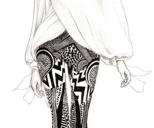 illustration, drawing, and fashion image
