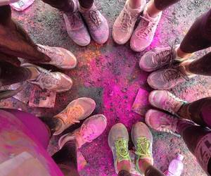 pink, shoes, and friends image