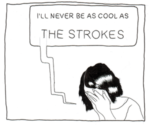 the strokes, cool, and grunge image