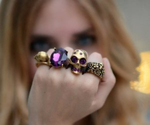 rings, skull, and ring image