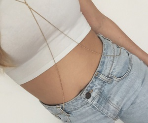 fashion, body chain, and girl image