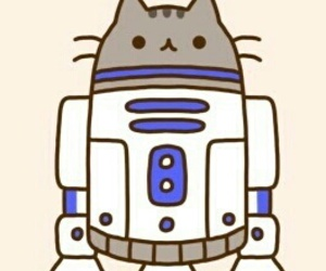 pusheen, cat, and r2d2 image
