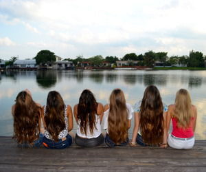 pretty, girls, and water image