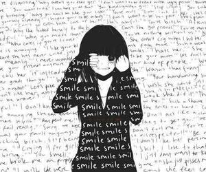 smile, anime, and sad image