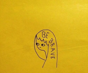 yellow, aesthetic, and brave image