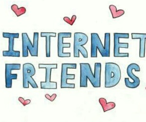 internet, internet friends, and love image
