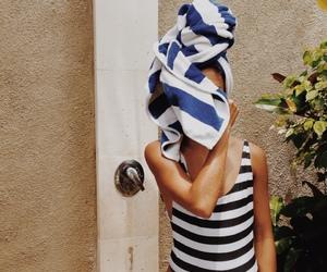 summer, beach, and swimwear image