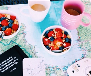 coffee, breakfast, and map image