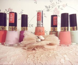 colors, nail polish, and vintage image