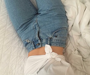 beautiful, bed, and denim image