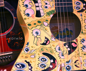 guitar, spongebob, and bob esponja image