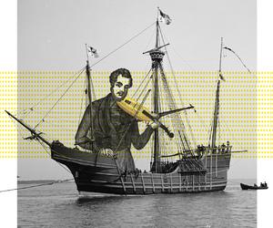 art, banana, and Collage image