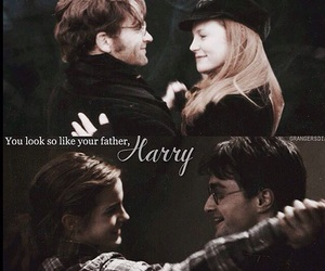 dance, harry potter, and lily and james image