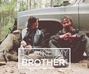 twd, the walking dead, and brothers image