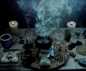 witch, candle, and magic image