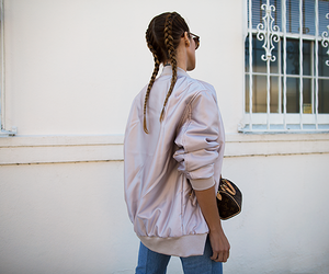 braid, girl, and jeans image