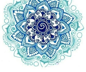 mandala, blue, and art image