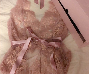 blush, lace, and ribbon image