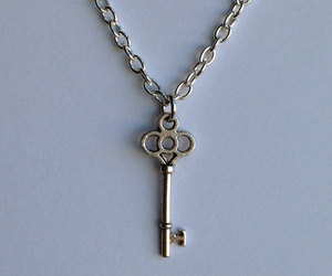 etsy, key necklace, and silver key image