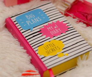 diary, pink, and cute image