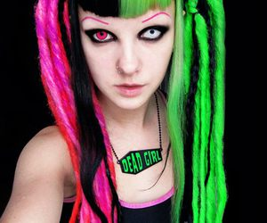 psychara, dreads, and green image