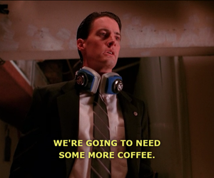 coffee, Kyle MacLachlan, and love it image
