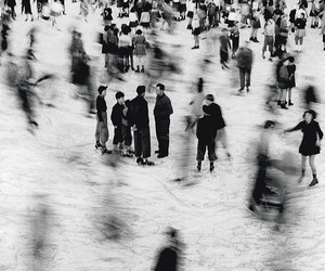 black and white, people, and vintage image