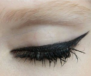 eyeliner, eye, and makeup image