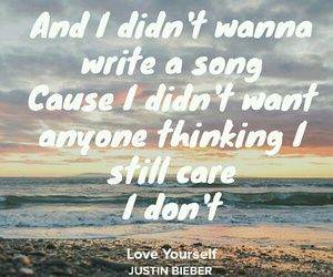 quotes, song lyrics, and love yourself image