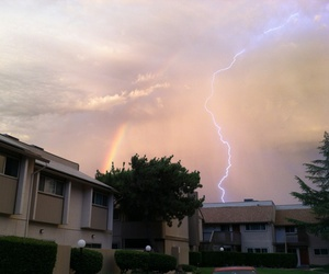 rainbow, sky, and grunge image