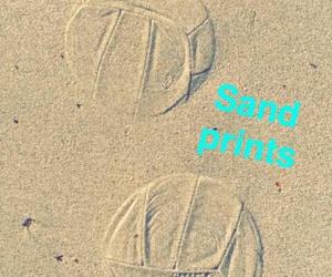 beach, prints, and sand image
