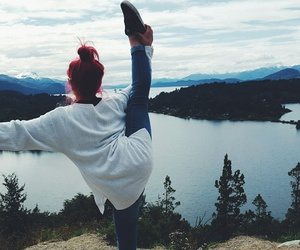 ballerina, dance, and mountains image